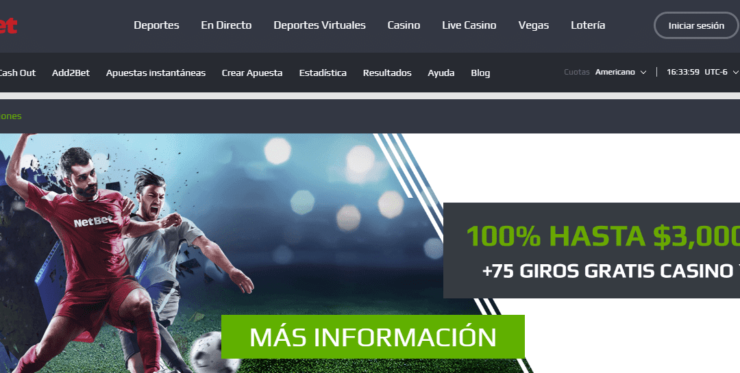 Análisis del Netbet sport México bono de registro