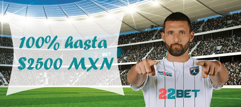Apuesta en tu equipo favorito en 22bet México